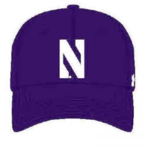 Northwestern University Wildcats Under Armour Purple Adjustable Velcro-back Hat with Stylized N Design