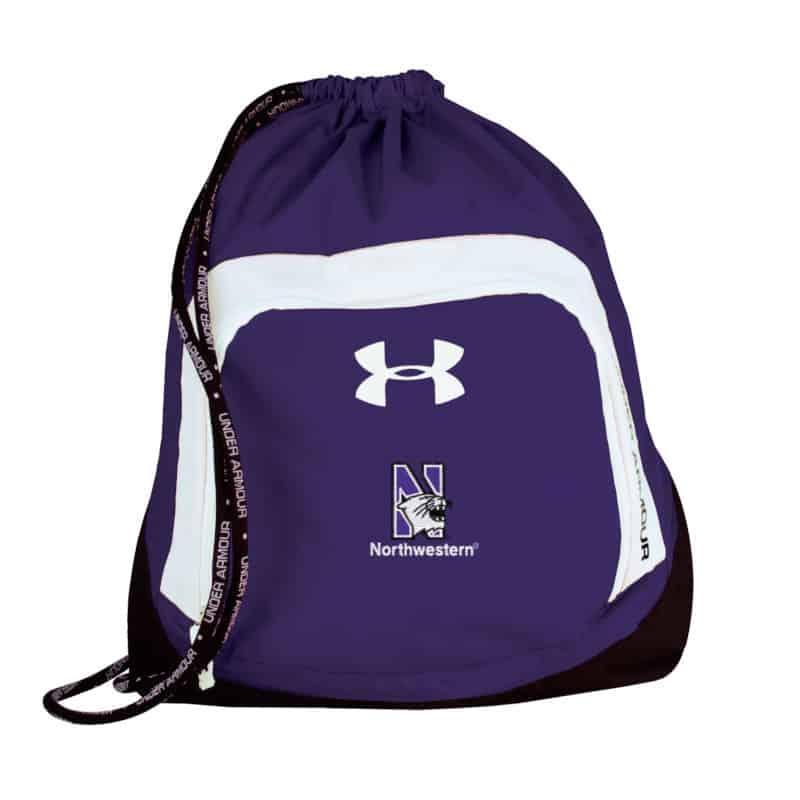6695480c0efd Northwestern Wildcats Under Armour Purple Victory Sackpack with N-cat Design