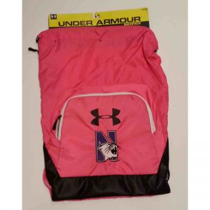 Northwestern Wildcats Under Armour Pink Victory Sackpack with N-cat Design