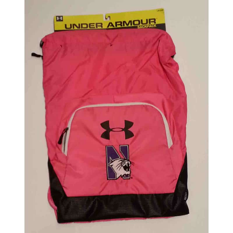 d993b164 Northwestern University Wildcats Under Armour Pink Victory Sackpack with  N-cat Design