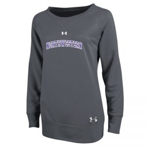 Northwestern University Wildcats Under Armour Varsity Ladies Charcoal Crew