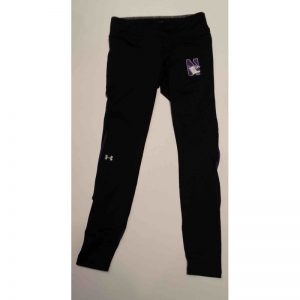 Northwestern University Wildcats Under Armour FLY-BY Leggings with Printed N-Cat Design