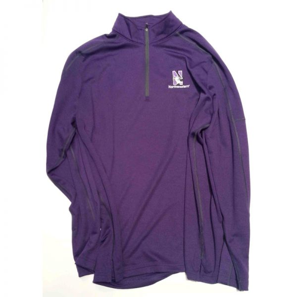 Northwestern University Wildcats Under Armour Adult Purple Predator Mock 1/4 Zip