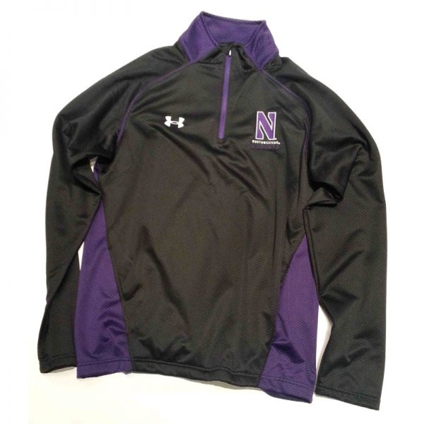 Northwestern Wildcats Under Armour Adult  Special Make Up Black/Purple Predator Mock 1/4 Zip