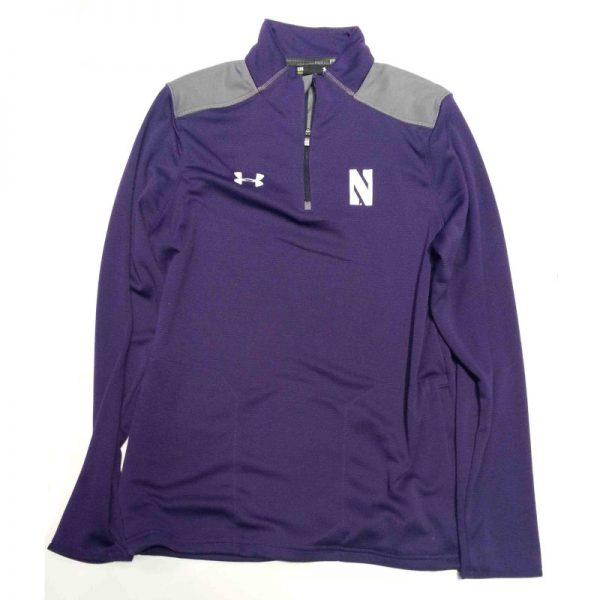 Northwestern Wildcats Under Armour Adult  Special Make Up Purple/Grey Predator Mock 1/4 Zip