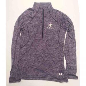Northwestern University Wildcats Under Armour Ladies Special Make Up Purple/Grey Predator Mock 1/4 Zip