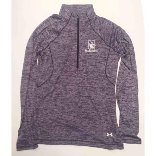 Northwestern Wildcats Under Armour Ladies  Special Make Up Purple/Grey Predator Mock 1/4 Zip
