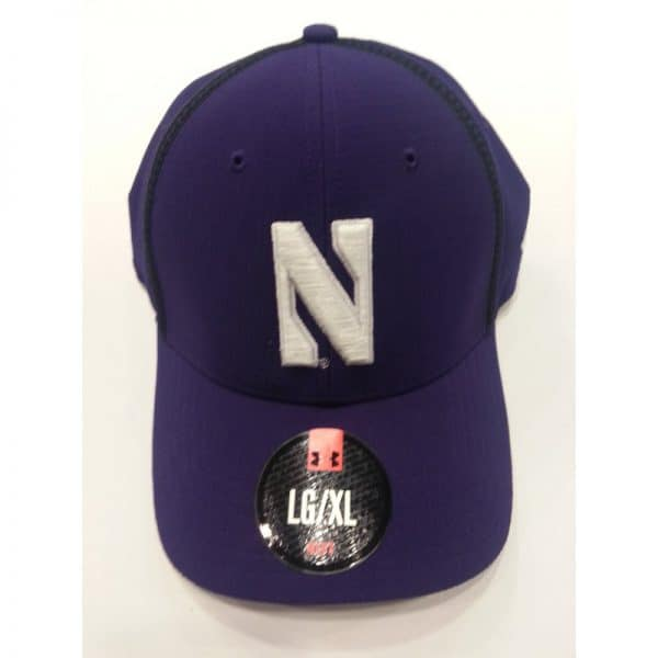 Northwestern Wildcats Under Armour Purple Flex-Fit Hat with Stylized N Design
