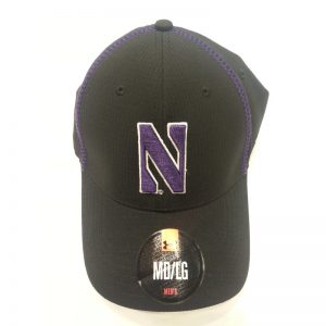 Northwestern Wildcats Under Armour Black Flex-Fit Hat with Stylized N Design