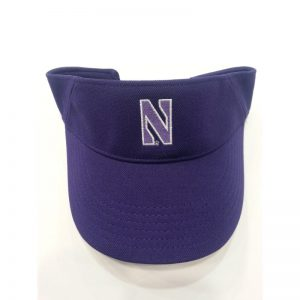 Northwestern Wildcats Under Armour Purple Visor with Stylized N Design