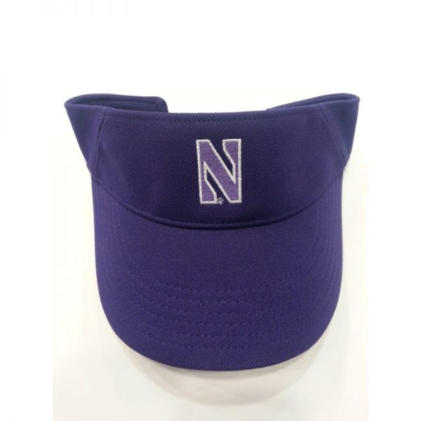Northwestern Wildcats Under Armour Purple Visor with Stylized N Design