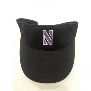 Northwestern University Wildcats Under Armour Black Visor with Stylized N Design