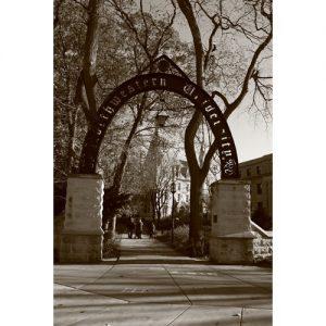 Northwestern Wildcats Postcard Weber Arch NU0018