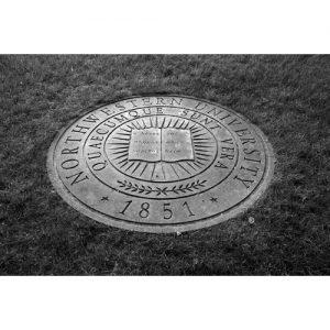 Northwestern Wildcats Postcard Metal Seal in Ground NU0037