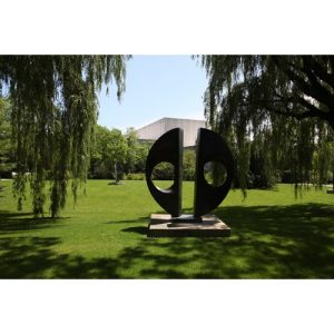 Northwestern Wildcats Postcard The Sculpture Garden of Northwestern University's Mary & Leigh Block Museum of Art NU0048