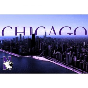 Northwestern Wildcats Postcard Chicago Skyline NU0052