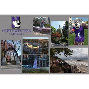 Northwestern Wildcats Postcard Montage with Mascot Design NU0056