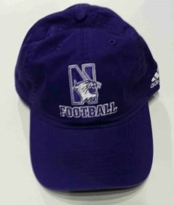 Unconstructed Purple Cotton Football Hat