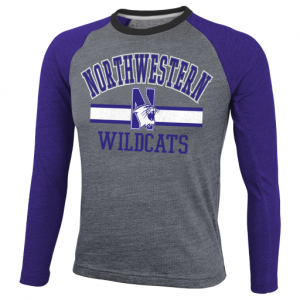 Northwestern University Wildcats Youth Supersoft Triblend Long Sleeve T-Shirt
