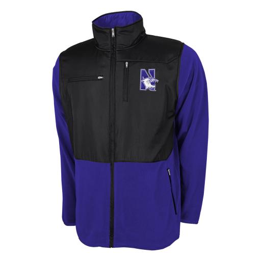 Northwestern University Wildcats Youth Polar Fleece Jacket With Rain Protection Insert