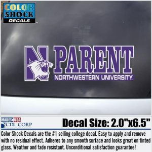 Northwestern University Parent Design Outside Application Decal