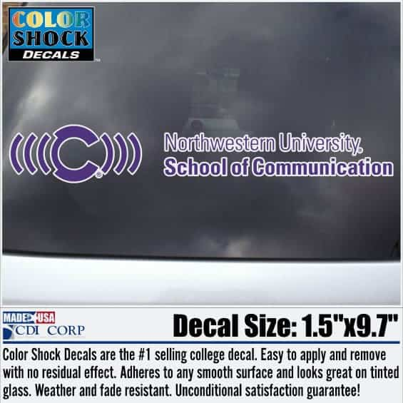 Northwestern University Communication Design Outside Application Decal