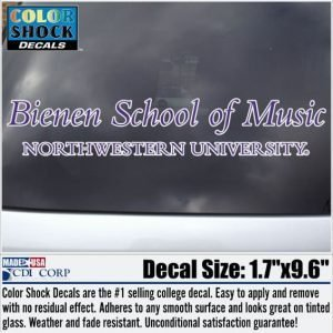 Northwestern University Bienen School of Music Design Outside Application Decal