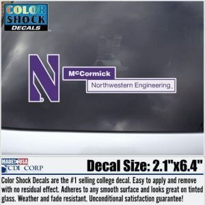 Northwestern University McCormick School of Engineering Outside Application Decal