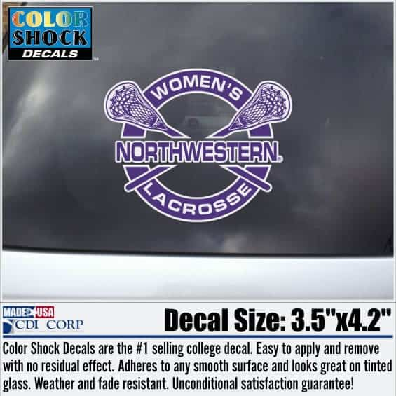Northwestern University Women's Lacrosse Outside Application Decal