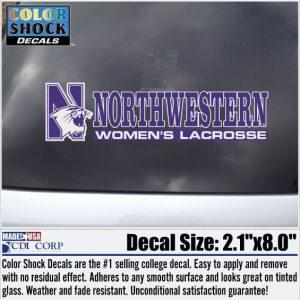 Northwestern University Women's Lacrosse Outside Application Decal