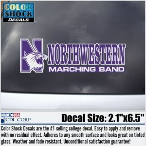 Northwestern University Marching Band Outside Application Decal