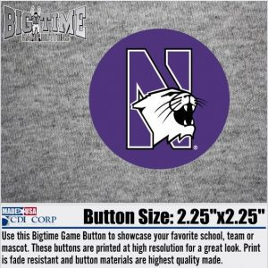 Northwestern University Button with N-cat Design 2.25""