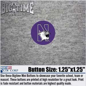 Northwestern University Button with N-cat Design 1.25""