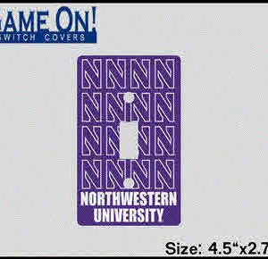 Northwestern University Light Switch Cover