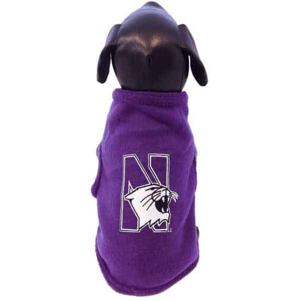 Northwestern University Wildcats Polar Fleece Dog Sweatshirt