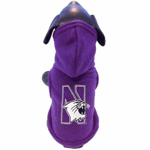 Northwestern Widcats Polar Fleece Hooded Dog Jacket