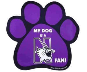 Northwestern University Wildcats Pow Magnet
