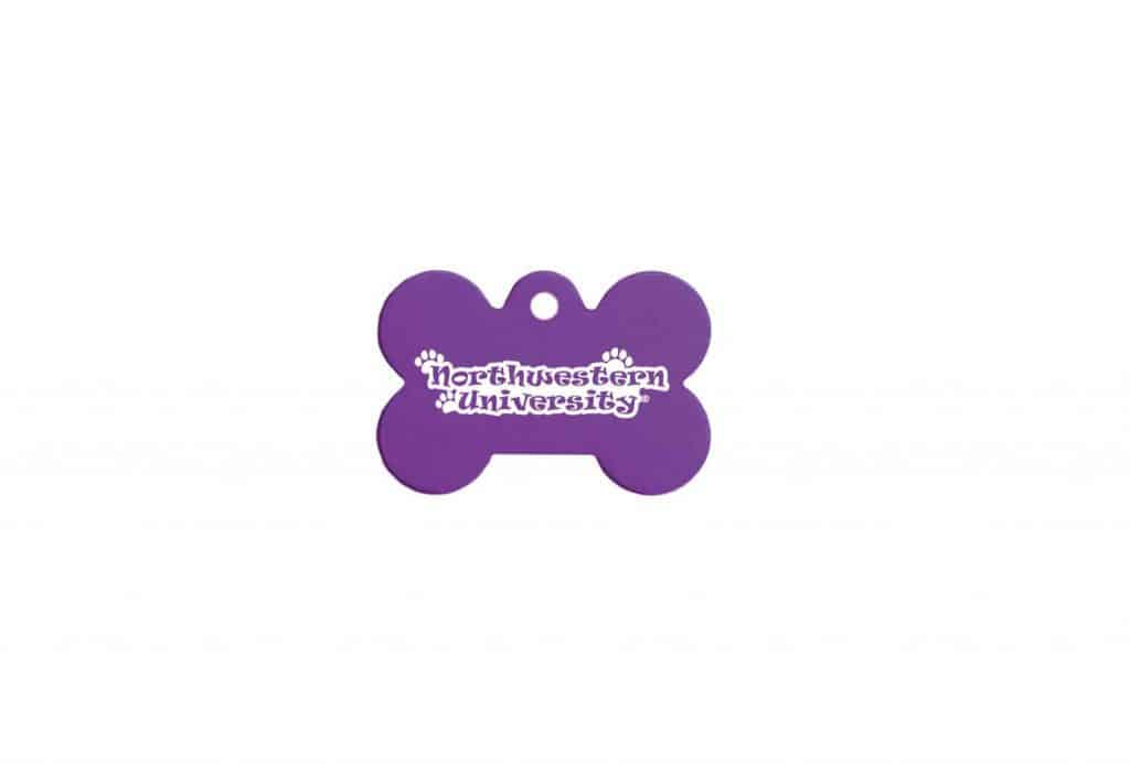 Northwestern Widcats Engravable Pet ID Tag