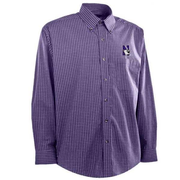 Northwestern University Wildcats Antigua Men's Dress Shirt Esteem