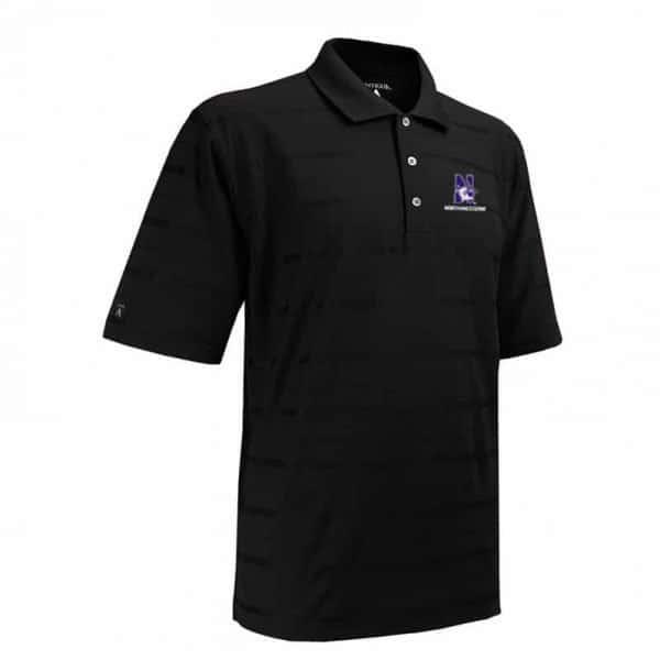 Northwestern Widcats Antigua Men's Polo Shirt   Tone 100054