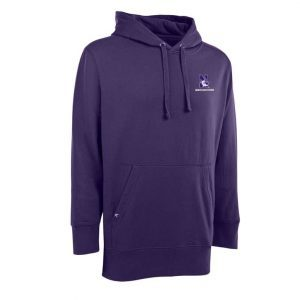 Northwestern Widcats Antigua Purple Men's Hoded Sweatshirt   Signature Hood 100232