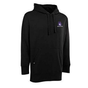 Northwestern Widcats Antigua Black Men's Hoded Sweatshirt   Signature Hood 100233