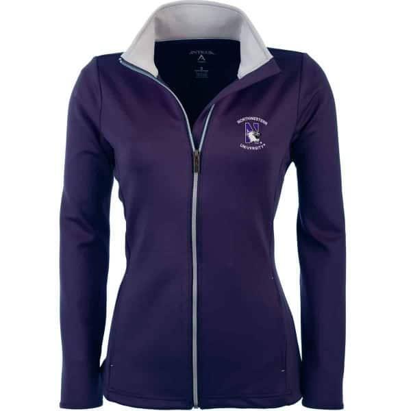 Northwestern Widcats Antigua  Women's Purple Jacket   Women's Leader 100695