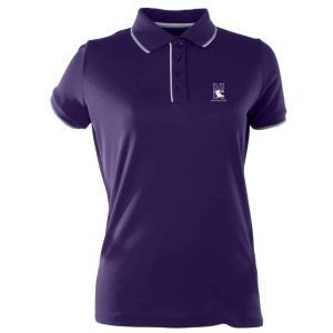 Northwestern Widcats Antigua  Women's Purple Polo Shirt        Women's Elite 100549