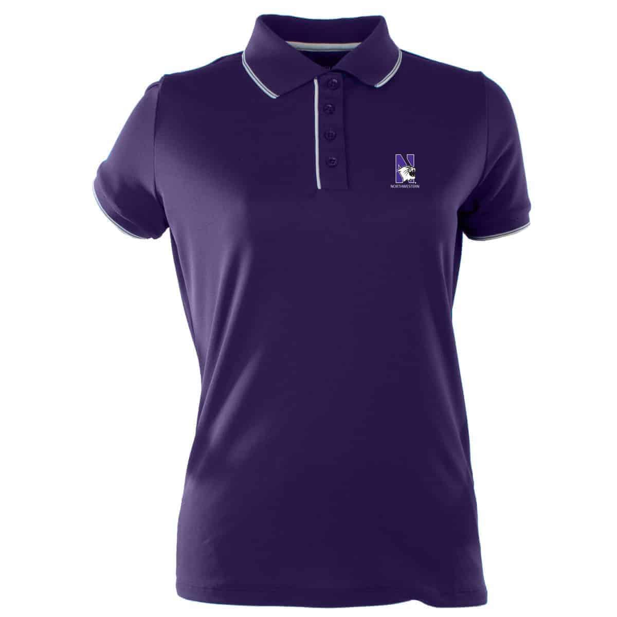 095d4906 Northwestern Widcats Antigua Women's Purple Polo Shirt Women's Elite 100549
