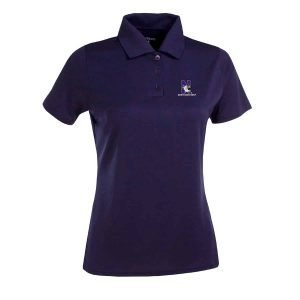 Northwestern Widcats Antigua  Women's Purple Polo Shirt        Women's Exceed 100222