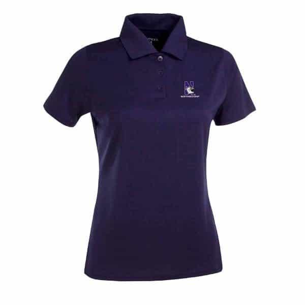 Northwestern Widcats Antigua  Women's Purple Polo Shirt        Women's Exceed 100222