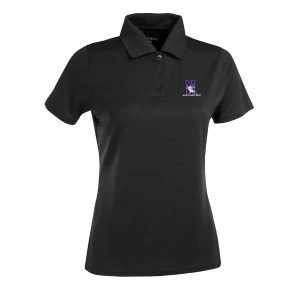 Northwestern Widcats Antigua  Women's Black Polo Shirt        Women's Exceed 100223