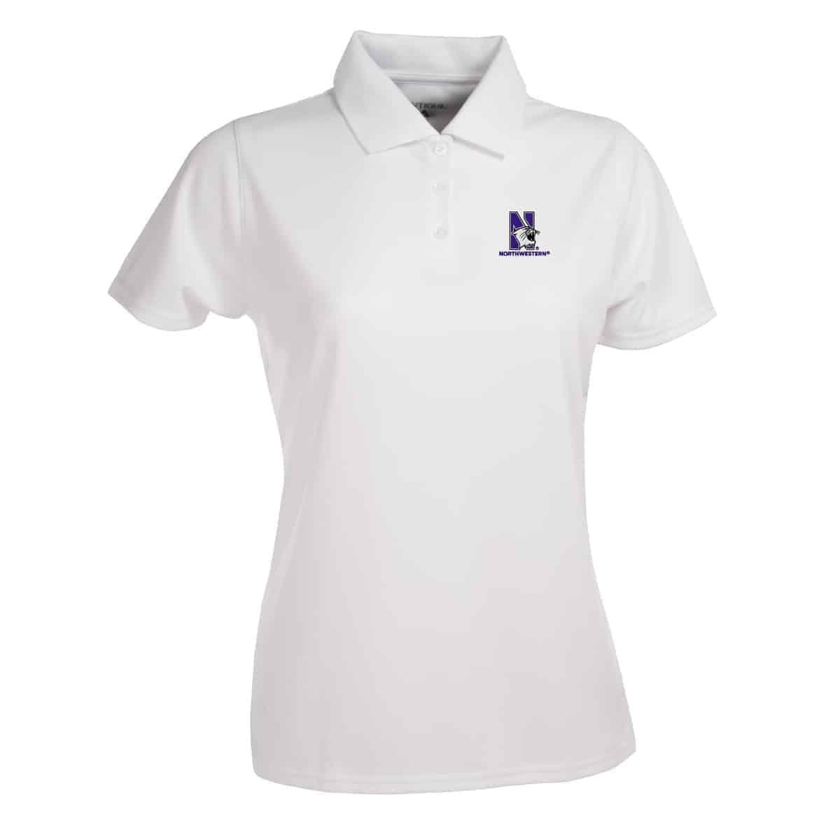 29bc5cc5 Northwestern Widcats Antigua Women's White Polo Shirt Women's Exceed 100224
