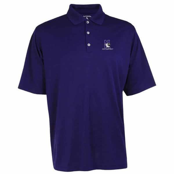 Northwestern Widcats Antigua  Men's Purple Polo Shirt    Exceed 100208